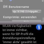 N95 - WLAN Hinweis (immer aktiv)