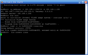 Putty Konsole mit Linux Installation