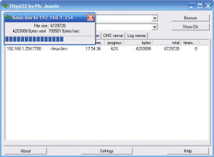 Fonera TFTP Server Screenshot