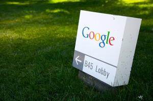 Google Schild (von Marcin Wichary)