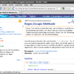MSDN - Regex.Escape Methode
